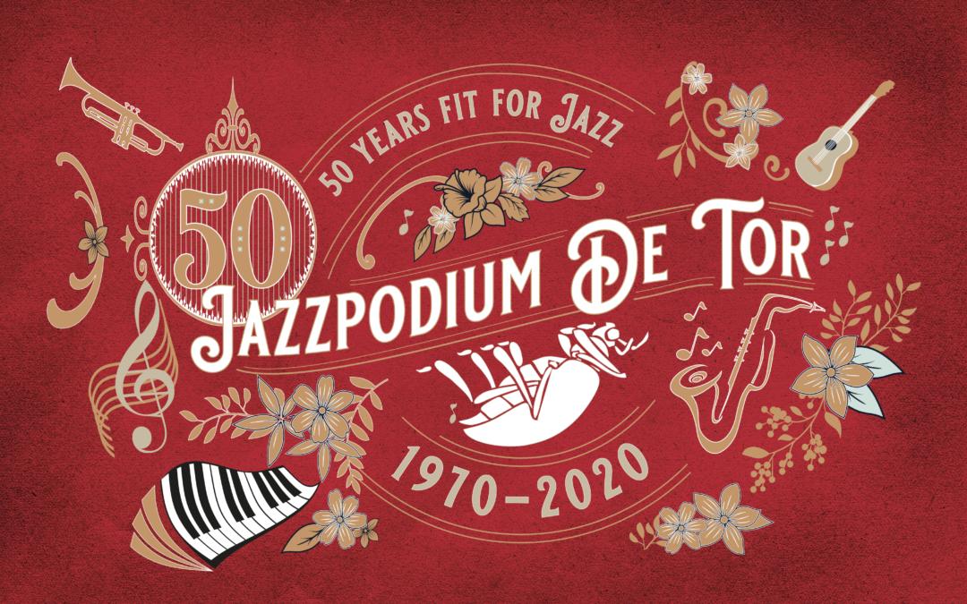 Tijdelijke huisstijl Jubileumjaar Jazzpodium de Tor